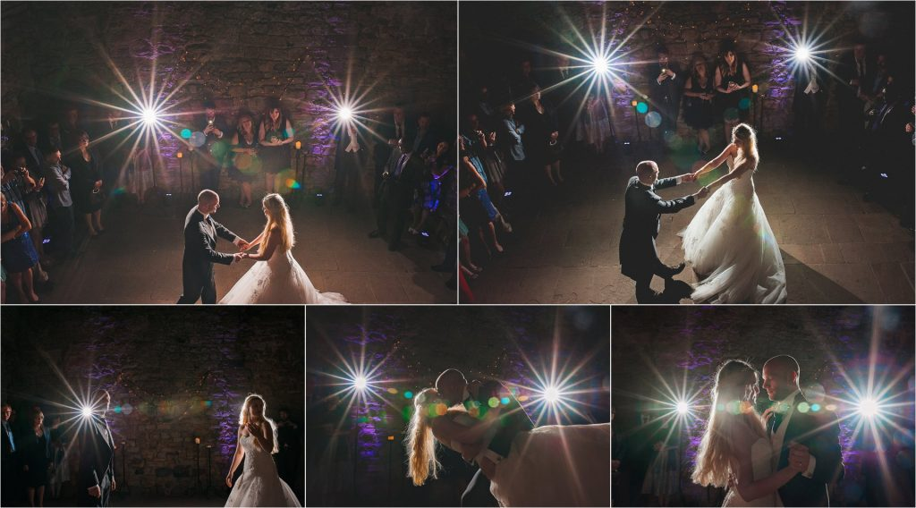 Crook Hall and Gardens wedding photographer - first dance-collage